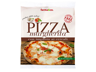 Pizza margherita ai cereali surgelata Farma&Co