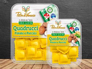 Quadrucci patate e porcini Pasta di Venezia
