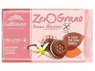 Zerograno Frollini al cacao con crema di vaniglia Galbusera